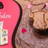 Brownie recheado par -o Dia dos Namorados