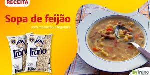 Receita sopa de feijão com macarrão e legumes