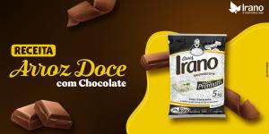 Receita de arroz doce com chocolate