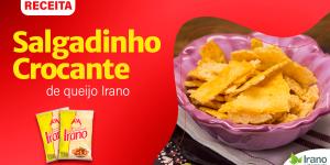 Receita de Salgadinho crocante de queijo parmesão