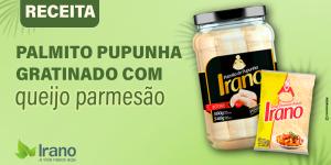 Receita de Palmito pupunha gratinado com queijo parmesão